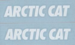 2x ARCTIC CAT 6quot; White Decals Stickers for Snowmobiles WindowsTrucks...
