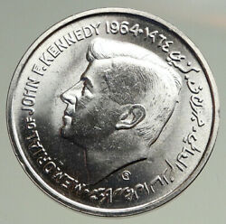 1964 Sharja United Arab Emirates John F. Kennedy Old Silver 5 Rupees Coin I94746