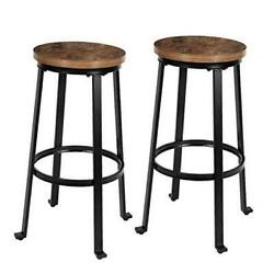 Bar Stools For Kitchen - 29 Pub Height Chairs With Metal Frame - Backless