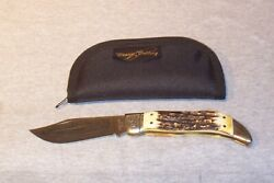 Schrade Usa 1980 Beautiful Stag Nkca Museum Founders Clasp Knife Never Used