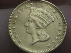 1866 1 Gold Indian Princess One Dollar Coin- Extremely Rare