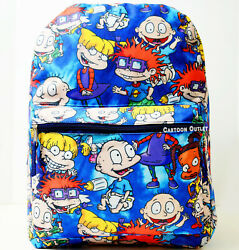 Rugrats Large Backpack School Travel 16quot; Book Bag Tommy Angelica Chuckie New $19.79