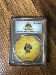 Pcgs 1857 S.s. Central America Ship Recovered ... 1.5 Grams Gold Rush Nuggets