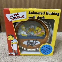 Collectible The Simpsons Animated Flashing Wall Clock New
