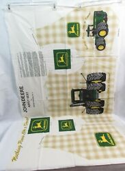 John Deere Tractor Vest Fabric Panel Size Adult Large-xl New