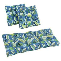 Blazing Needles 3-piece All-weather Settee Group Cushions