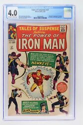 Tales Of Suspense 57 - Marvel 1964 Cgc 4.0 Origin And 1st Appearance Of Hawkeye