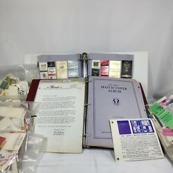 Matchbook Covers Lot Of Over 550 Including The Andldquoidealandrdquo Match Cover Album