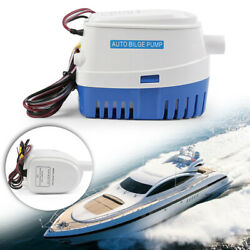 12v 750gph Boat Marine Automatic Submersible Bilge Auto Water Pump Float Switch