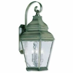 Livex Lighting Exeter 3-light Vintage Pewter Outdoor Wall Grey Casual