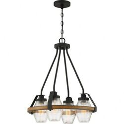 Guilford Chandelier 4 Light Steel - 25.25 Inches High  Grey Ash Finish With