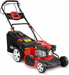 Gas Lawn Mower 4-cycle 173cc Ohv 21-inch Trimming Mower 4-in-1 Rear Wheel Drive