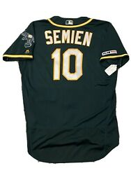 Mlb Authenticated - Marcus Semien Four Home Runs Four Games Athletics Jersey