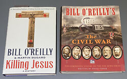 Lot Of 2 Bill O'reilly First Editions Killing Jesus + The Civil War Hbdj Vg Con
