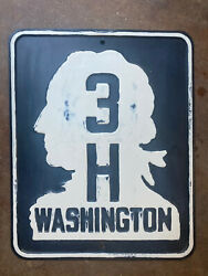 Washington State Route 3h Highway Road Sign Embossed 1937
