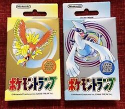Nintendo Pokemon Playing Cards Poker Card Gold Silver Set Rare From Japan New