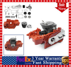 Crankcase Piston Cylinder Motor Assembly For Husqvarna 350 340 345 44mm Chainsaw
