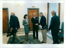 Queen Silvia And King Carl Gustav State Visit To The - Vintage Photograph 622537