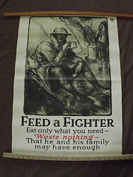 Wwi World War 1 Feed A Fighter Doughboy Us Food Administration Poster