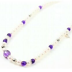 Mikimoto K18 Pearl Amethyst Necklace