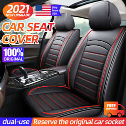 5-sits Luxury Car Seat Cover Suv Truck Leather Cushions Front Back Protector Red
