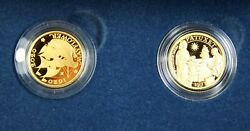 2020 400th Anniversary Of The Mayflower Voyage Two Coins Gold Proof Set W/coa