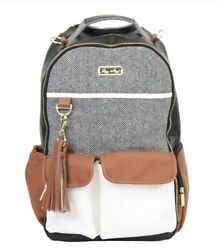 itzy ritzy boss backpack diaper bag coffee amp; cream $140.00