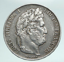 1847 France King Louis Philippe I French Antique Old Silver 5 Francs Coin I90978