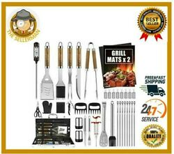 38pcs Bbq Grill Accessories Tools Set Grilling Barbecue Stainless Steel Case New