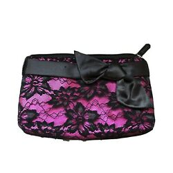 small pink and black elegant cosmetic bag for purse $12.00
