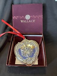 Wallace Sterling Silver 2005 Heart Christmas Ornament