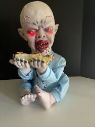 Vtg. Spirit Halloween Zombie Baby Teether Eating Hand Lights Sound Animated Prop