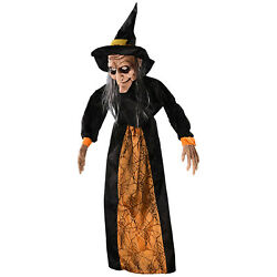 Life Size Animated Hanging Witch Halloween Prop Haunted House Decoration