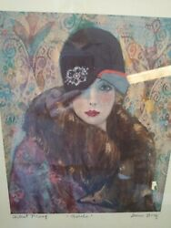 Irene Borg 4 Artists Proofs Signed Vintage Ladies Adele At The Milliners