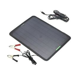Solar Panel Car Charger 10w 12v Solar Car Battery Maintainer Charger