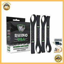 4 Pack Soft Loops Motorcycle Tie Down Straps Heavy Duty Ties Downs Ratchet Strap