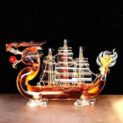 Whiskey And Wine Creative Dragon Boat Style Design Decanter Bottle Home Bar / Gift