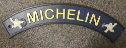 Vintage Michelin Cast Iron Metal Sign Man Cave Garage Free Delivery