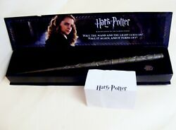 Harry Potter Noble Collection Hermione Granger Wand With Light Up Tip And Key Bn