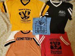 Lot Of Discount Cemetery Lunchmeat Vhs Jersey T-shirts And Tote Men's Xl Mom And Pop