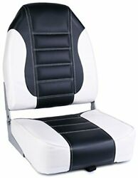 Leader Accessories High Back Fishing Folding Boat Seat G-black/white