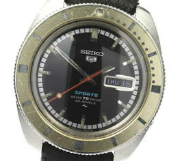 Seiko 5 Sports Diver Day-date Antique 5126-8090 Automatic Winding Secondhand