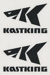 2x KASTKING 6quot; Black Decals Stickers for Trucks Windows Boats Trailers...