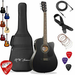 Thinline Cutaway Acoustic Electric Guitar With Gig Bag - Right Handed