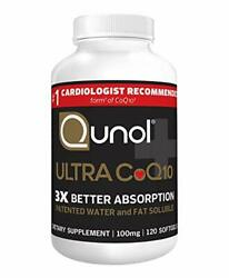 Qunol Ultra Coq10 100mg 3x Better Absorption Patented Water And Fat Soluble N...
