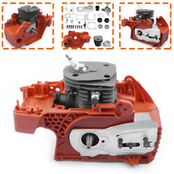 44mm Crankcase Piston Cylinder Motor Assembly For Husqvarna 340 345 350 Chainsaw