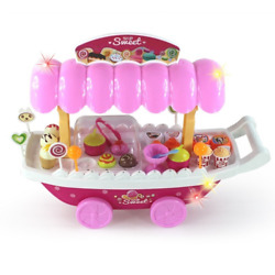 Simulation Small Carts Girl Mini Candy Ice Cream Shop Supermarket Childrenand039s Toy