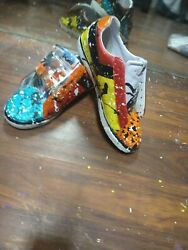 Pony Menand039s Custom Hand Painted And Splatter Shoes Menand039s 9.5