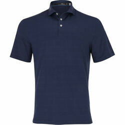 Rlx Printed Lightweight Airflow Jersey French Navy Mirabeau Deco Mens Golf Polo