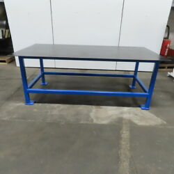 1/4 Thick Top Steel Fabrication Welding Layout Table Work Bench 96x48x36-3/8